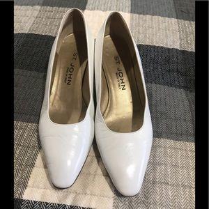 White leather Saint John shoe